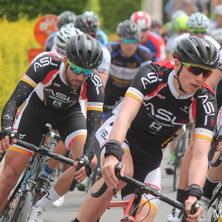 Kinesis UK Team ASL360 racing in Belgium