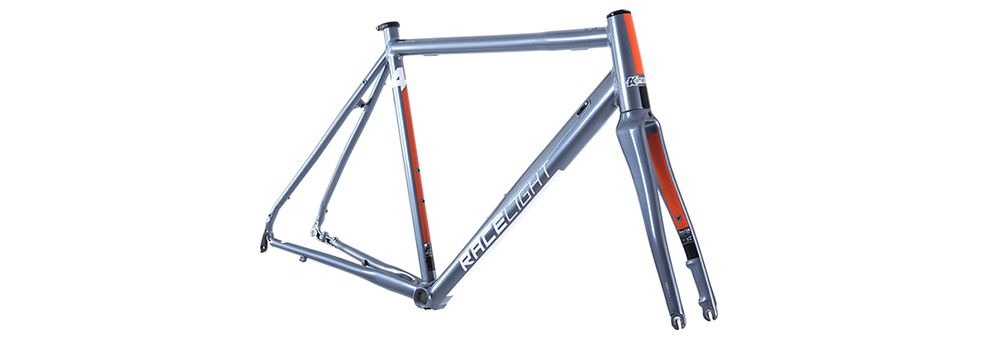 Front image of a grey Kinesis 4S disc frame