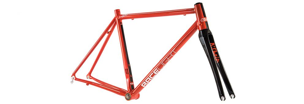 Front image of red Kinesis Aithein frame