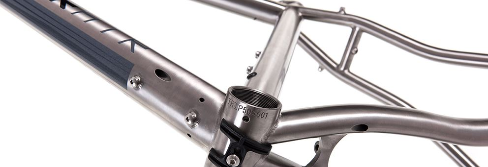 Titanium adventure bike frameset