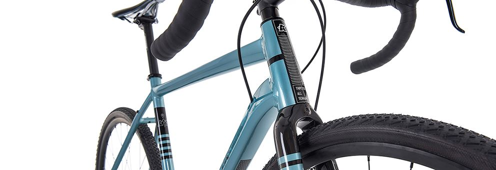 blue Kinesis Tripster AT head tube