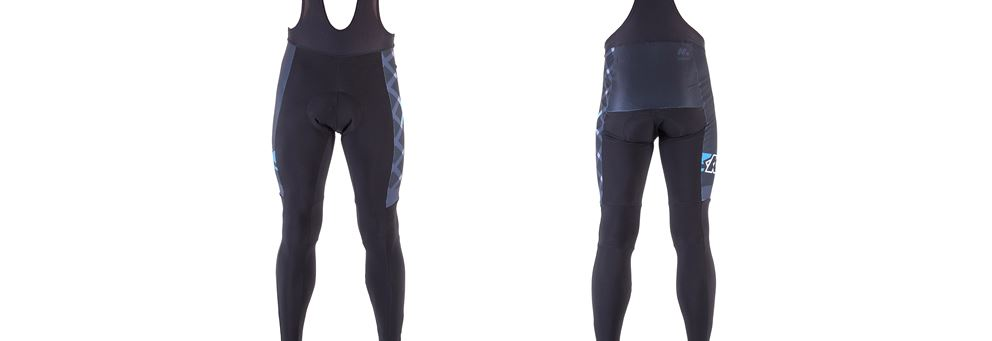 Kinesis UK thermal bib tights with reflective detailing