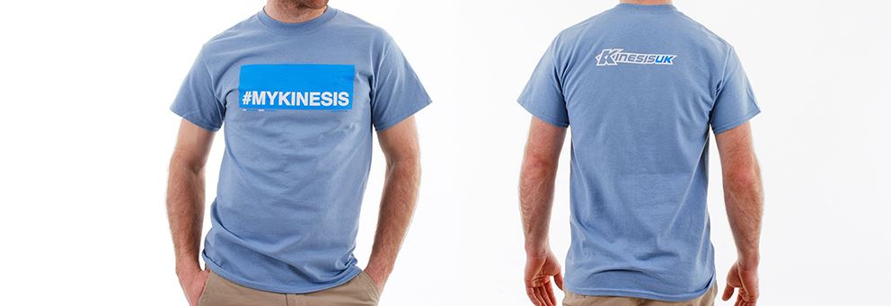 grey blue #MYKINESIS T-shirt