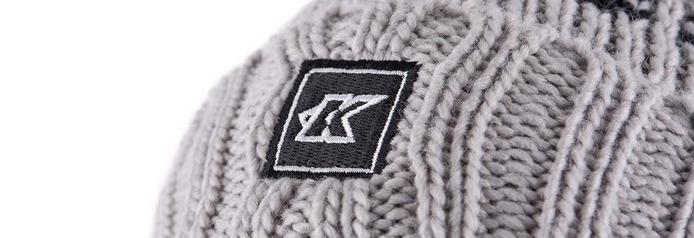 Grey Kinesis UK bobble hat