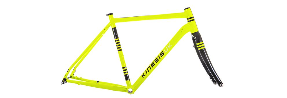 yellow Kinesis Tripster AT All Terrain adventure bike